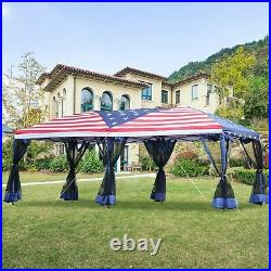 Outsunny 10x20ft Pop up Party Tent Gazebo Canopy Market Instant Shelter American