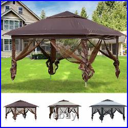 Outsunny 12' x 12' Outdoor Pop-Up Tent Canopy with Adjustable Legs Bag