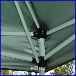 Outsunny 13'x13' Easy Pop Up Canopy Shade Cover Party Tent Outdoor Gazebo Green