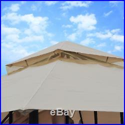 Outsunny 2-tier 10'×10' Gazebo Canopy Patio Shelter Awning Tent Outdoor Garden