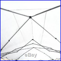 Outsunny 20 x 10 Outdoor Pop Up Canopy Gazebo Tent with Mesh Netting Side