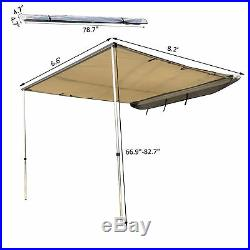 Outsunny 8.2 x 8.2ft SUV Vehicle Fold Out Awning Car Tent Awning