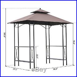 Outsunny BBQ Tent Gazebo Canopy Patio Outdoor Party Tent Wedding Shelter Sun