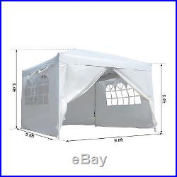 Outsunny10x10FT Pop Up Party Tent Folding Gazebo Wedding Tent Canopy