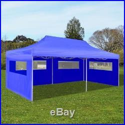 Patio 10' x 20' Blue Outdoor Foldable Pop Up Garden Canopy Party Tent Gazebo
