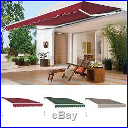 Patio Awning Canopy Retractable Deck Door Outdoor Sun Shade Shelter