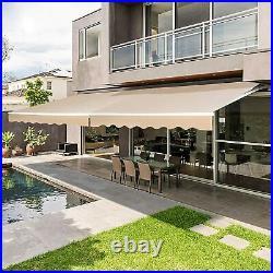 Patio Awning Canopy Retractable Deck Door Outdoor Sun Shade Shelter Crank Handle