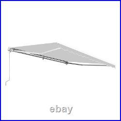 Patio Awning Canopy Retractable Deck Door Outdoor Sun Shade Shelter Gray 13 Feet