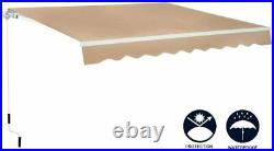 Patio Awning Manual Retractable Sun Shade Canopy Outdoor Deck Shelter 4 Size