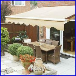 Patio Awning Retractable Sun Shade Outdoor Canopy Sun Setter with Crank Handle