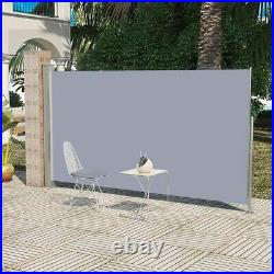 Patio Retractable Side Awning 63x118 Gray