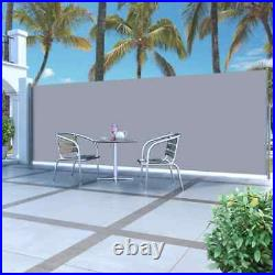 Patio Retractable Side Awning Fence 63x196.9 Privacy Screen garden Shade Blind