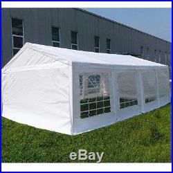 Peaktop 26x13 Heavy Duty Party Wedding Tent Carport Garage Canopy Shelter White