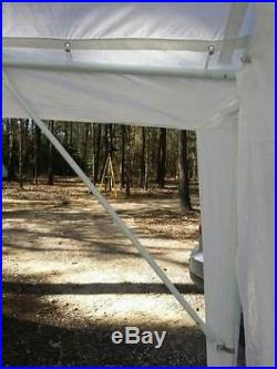 Peaktop 26x20 Outdoor Garage Carport Canopy Gazebo Party Tent White