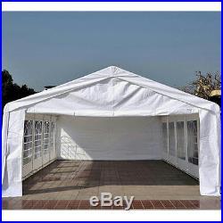 Peaktop 32u0027x20u0027 Heavy Duty Carport Party Wedding Tent Canopy Gazebo White & Peaktop 32u0027x20u2032 Heavy Duty Carport Party Wedding Tent Canopy Gazebo ...
