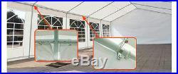 Peaktop 32'x20' Heavy Duty Carport Party Wedding Tent Canopy Gazebo White