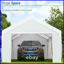 Peaktop Outdoor 12x20ft Heavy Duty Carport Storage Shed Car Shelter Canopy Tent