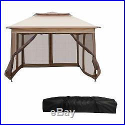 Pop Up Canopy Tent with Mesh Sidewall Adjustable Outdoor Gazebos