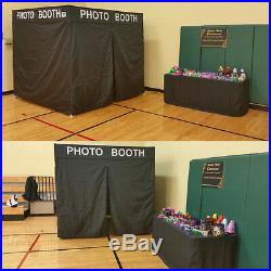 Pop Up Fortable BLACK PHOTO BOOTH Franchise Canopy Tent WithSides Party Wedding