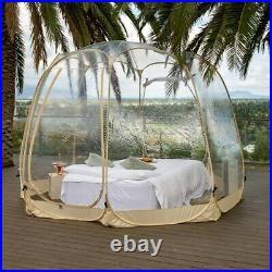 Pop Up Portable Bubble Tent PVC House Weather Pod Camping Gazebos for Patios