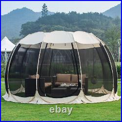 Pop Up Screen House Room Outdoor Camping Tent Canopy Gazebo 8-10 Person Patio