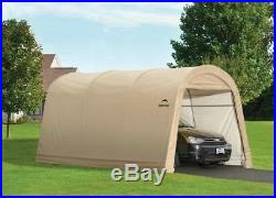 Portable Garage Car Canopy 10 ft. X 15 ft. X 8 ft. Polyethylene Sandstone Steel