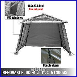 Portable Storage Shed, Portable Garage Shelter, 6x6x7.8 ft Storage Shelter, Grey