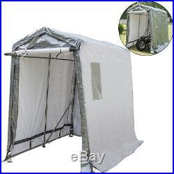 Portable Storage Shed, Portable Garage Shelter, 6x8x7.8 ft Storage Shelter, Grey