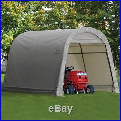 Portable Storage Shed Shelter Garage Canopy Cover Outdoor 10 Ft. X 8 FT Roundtop