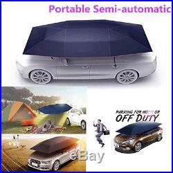 Portable UV Protection Semi-automatic Outdoor Car Umbrella Sunshade Roof Cover
