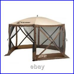 Quick-Set Escape 12x12 ft. Portable Camping Outdoor Gazebo Canopy Shelter, Brown
