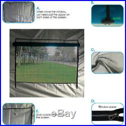 Quictent 10'X10'Blue Pyramid-roofed EZ Pop Up Party Tent Canopy Gazebo Curtain