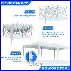 Quictent 10'x20' Commercial EZ Pop UP Canopy Wedding Party Tent Folding Gazebo