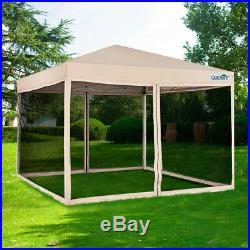 Quictent 10x10/8x8 Pop Up Canopy with Netting Screen House Mesh Sides -2 Sizes