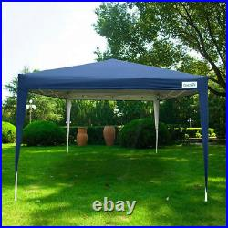 Quictent 10x10 EZ Pop Up Canopy Gazebo Party Tent Waterproof with walls Blue