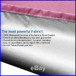 Quictent 10x10 EZ Pop Up Canopy Tent Instant Folding Party Tent WithCarry Bag Pink