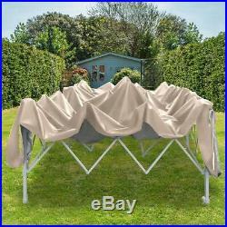 Quictent 10x20 ft EZ Pop Up Canopy Tent Instant Folding Gazebo Party Tent Beige