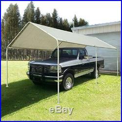 Quictent 20 x10 Heavy Duty Portable Garage Carport Car Shelter Canopy White, Hot