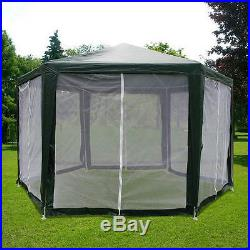 Quictent 6.6x 6.6 x 6.6 Hexagon Party tent Canopy Screen House Mesh Wall Green