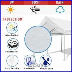 Quictent Awnings Canopies White Carport Car Tent 10x20 FT Canopy Boat Shelter
