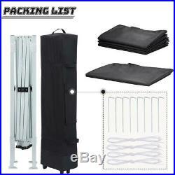 Quictent Black 10 x 10 EZ Pop Up Canopy Patio Gazebo Outdoor Folding Party Tent