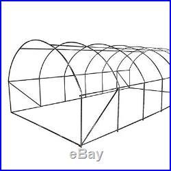 Quictent Galvanised 2 Doors 12 vents 20X10X7 FT Large Walk-in Greenhouse