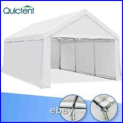 Quictent Heavy Duty Carport Garage Canopy Tent 10'x20' Car Shelter WithSidewalls