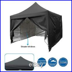 Quictent Privacy 10'X10'Screen Curtain EZ Pop Up Party Tent Canopy Gazebo Black
