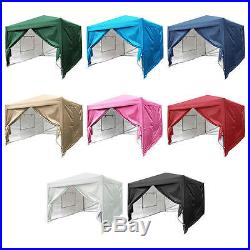 Quictent Privacy 10'X10'Screen Curtain EZ Pop Up Tent Canopy Gazebo-7 Colors