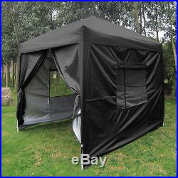 Quictent Privacy 8'X8' Black Screen Curtain EZ Pop Up Party Tent Canopy Gazebo