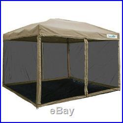 Quictent Screen 10x10 Ez Pop Up Canopy Instant Tent Mesh Screen With Groundsheet