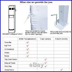 Quictent Silvox 10x10'EZ Pop Up Canopy Gazebo Party Tent Silver 100% Waterproof