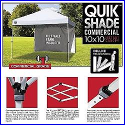 Quik Shade Commercial C100 10'x10' Instant Canopy with Wall Panel White