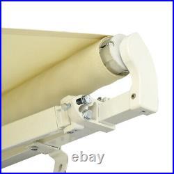 Retractable Awning Manual Aluminium Canopy Patio SunShade Shelter 3.5X2.5m Beige
